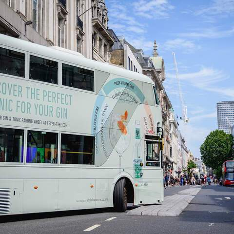 fevertree, bus, campaign, branding, public, transport