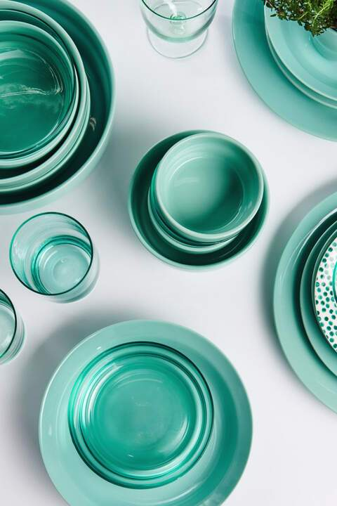 plates, tableware, hema, aqua, concept, styling, tabletop, products